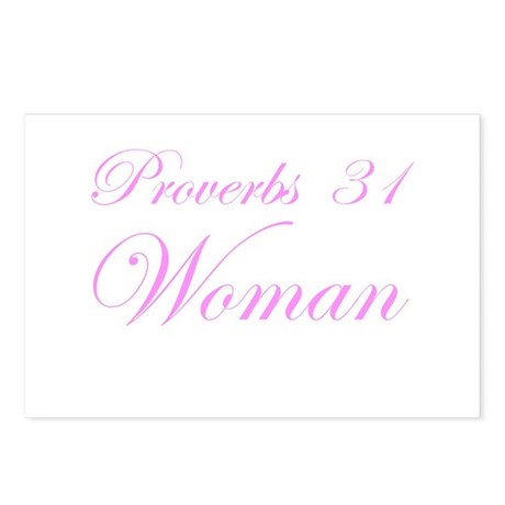Pink Proverbs 31 Woman Postcards (Package of 8)