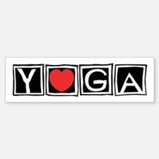 Love Yoga Bumper Bumper Bumper Sticker