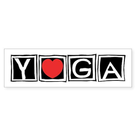 Love Yoga Bumper Sticker