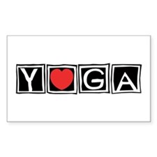 Love Yoga Rectangle Decal