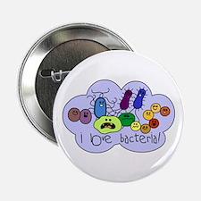 """I Love Bacteria 2.25"""" Button"""