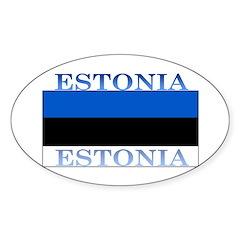 Estonia Estonian Flag Oval Decal