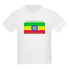 Ethiopia Ethiopian Flag Kids T-Shirt