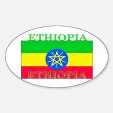Ethiopia Ethiopian Flag Oval Decal
