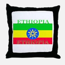 Ethiopia Ethiopian Flag Throw Pillow