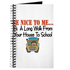 be nice to me bus driver Journal