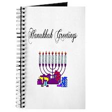 Hanukkah Greetings Journal