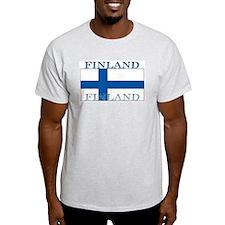 Finland Finish Flag Ash Grey T-Shirt