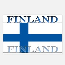 Finland Finish Flag Postcards (Package of 8)