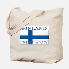 Finland Finish Flag Tote Bag