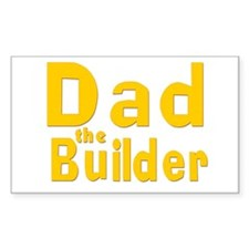 Dad the Builder Rectangle Decal