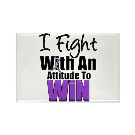 Fight Attitude Win Rectangle Magnet