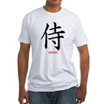 Japanese Samurai Kanji (Front) Fitted T-Shirt