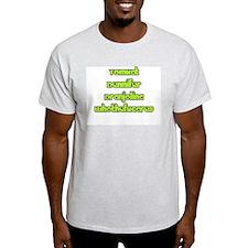 Celebrity Names Ash Grey T-Shirt