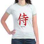 Japanese Samurai Kanji (Front) Jr. Ringer T-Shirt