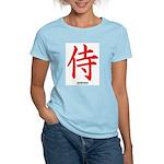 Japanese Samurai Kanji Women's Pink T-Shirt