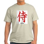 Japanese Samurai Kanji Ash Grey T-Shirt