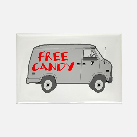 Free Candy Rectangle Magnet