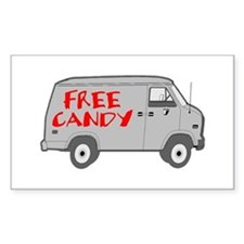 Free Candy Rectangle Decal