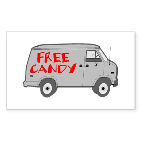 Free Candy Rectangle Sticker