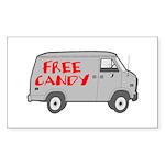 Free Candy Rectangle Sticker 50 pk)