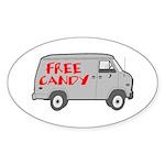 Free Candy Oval Sticker (10 pk)