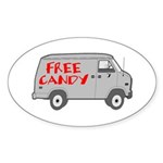 Free Candy Oval Sticker (50 pk)