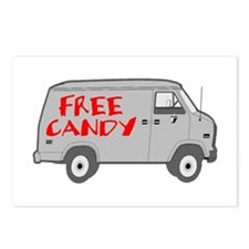 Free Candy Postcards (Package of 8)