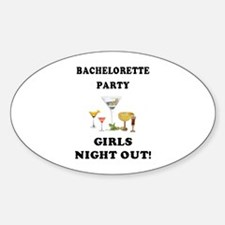 Girls Night Out Oval Decal