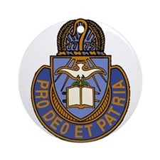 Chaplain Crest Ornament (Round)