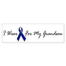 I Wear Blue For My Grandson 1 Bumper Bumper Sticker
