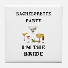 Brides Bachelorette Party Tile Coaster