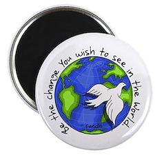 "World Peace Gandhi - 2008 2.25"" Magnet (10 pa"