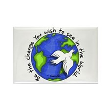World Peace Gandhi - 2008 Rectangle Magnet (10 pac