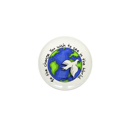 World Peace Gandhi - 2008 Mini Button (10 pack)
