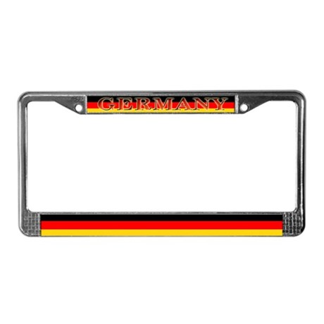 Germany German Flag License Plate Frame