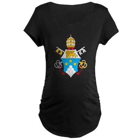 Pope John Paul I Maternity Dark T-Shirt
