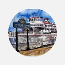 "savannah queen river boat Geo 3.5"" Button"