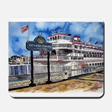 savannah queen river boat Geo Mousepad