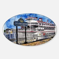 savannah queen river boat Geo Oval Decal