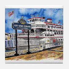 savannah queen river boat Geo Tile Coaster