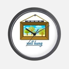 Well Hung Wall Clock