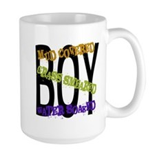 Mud Covered Grass Smeared Water Soaked BOY Mug