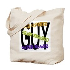 Mud covered Grass smeared Water soaked GUY Tote Ba