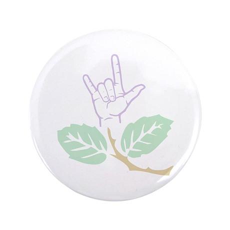 "ASL Purple Flower 3.5"" Button (100 pack)"