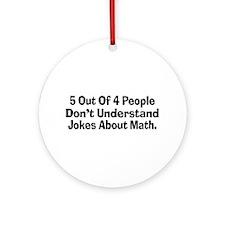 Math Jokes Ornament (Round)