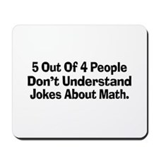 Math Jokes Mousepad