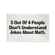 Math Jokes Rectangle Magnet