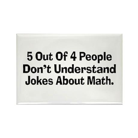Math Jokes Rectangle Magnet (100 pack)
