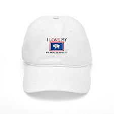 I Love My Wyoming Boyfriend Baseball Cap